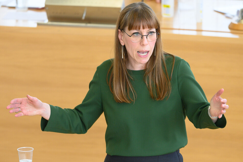 Sachsens Justizministerin Katja Meier (41, Grüne).