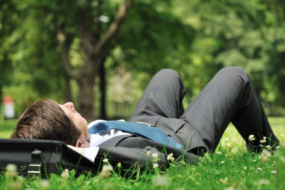 Ein paar Minuten Ruhe auf einer grünen Wiese können schon Wunder wirken, den Kopf wieder frei zu bekommen. (Symbolbild)