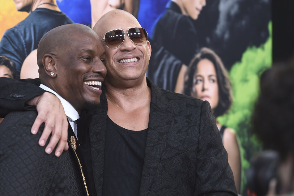 """Hollywood-Schauspieler Tyrese Gibson (42) und Vin Diesel (53) bei der Premiere des Films """"F9: Fast & Furious 9"""" im TCL Chinese Theatre in Los Angeles."""