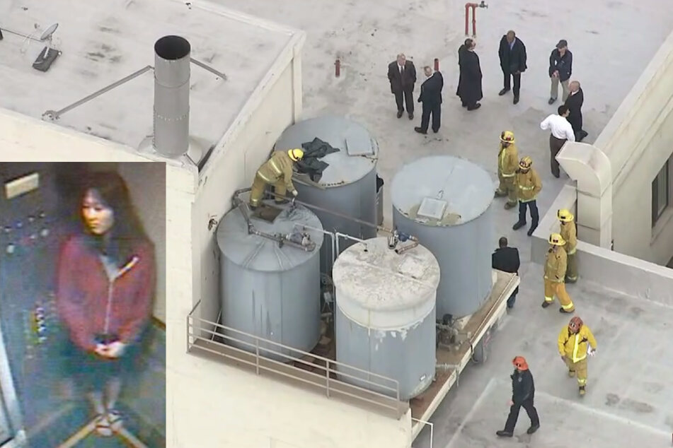 After the grisly find, maintenance workers and firefighters inspected the water tanks on the hotel's roof. Three weeks earlier, Elisa had been captured on the Cecil Hotel's elevator camera.