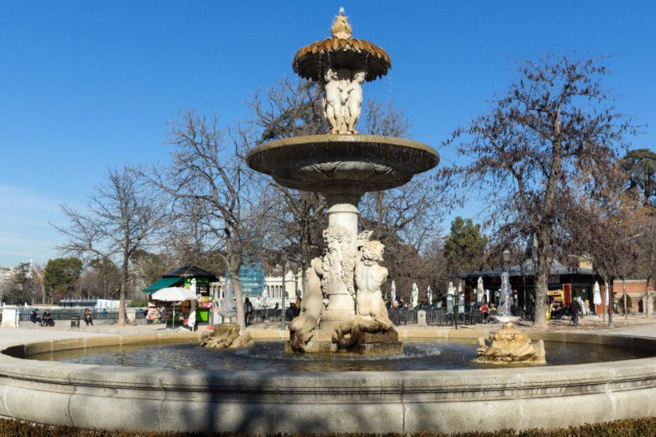 Ein Brunnen in einem Park in Madrid (Symbolbild).