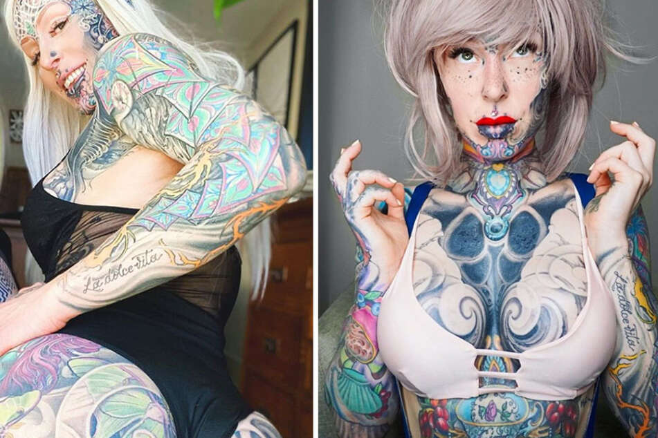 """Cyborg woman"" quits corporate job and spends $50K on body modifications"