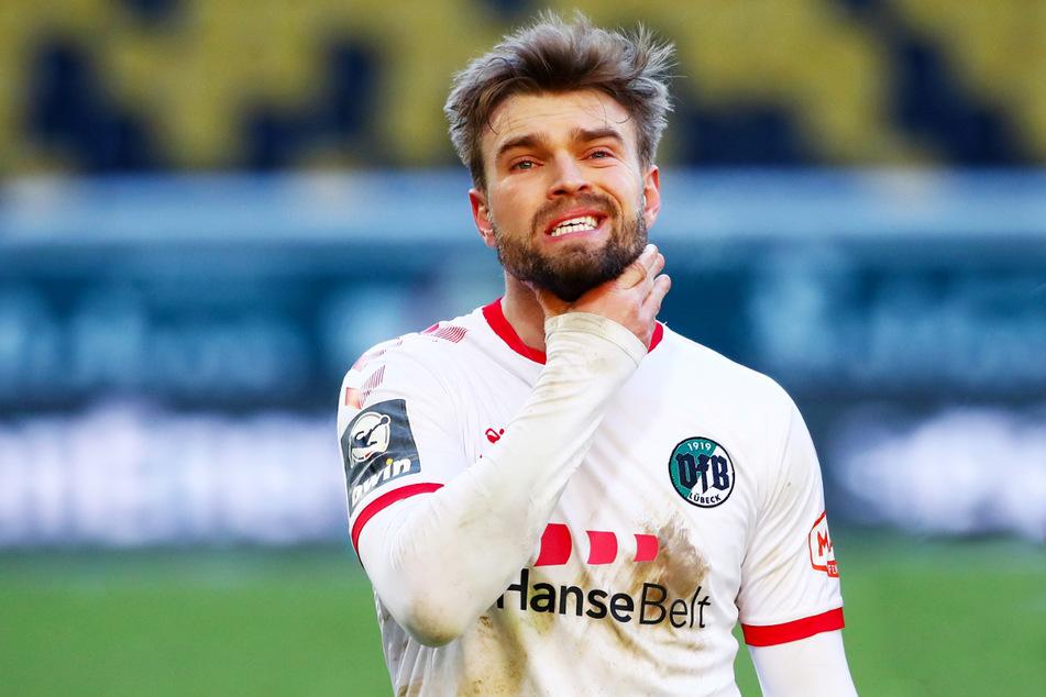 Für den Tabellenletzten VfB Lübeck um Yannick Deichmann (26) sieht es momentan stark nach direktem Wiederabstieg aus.