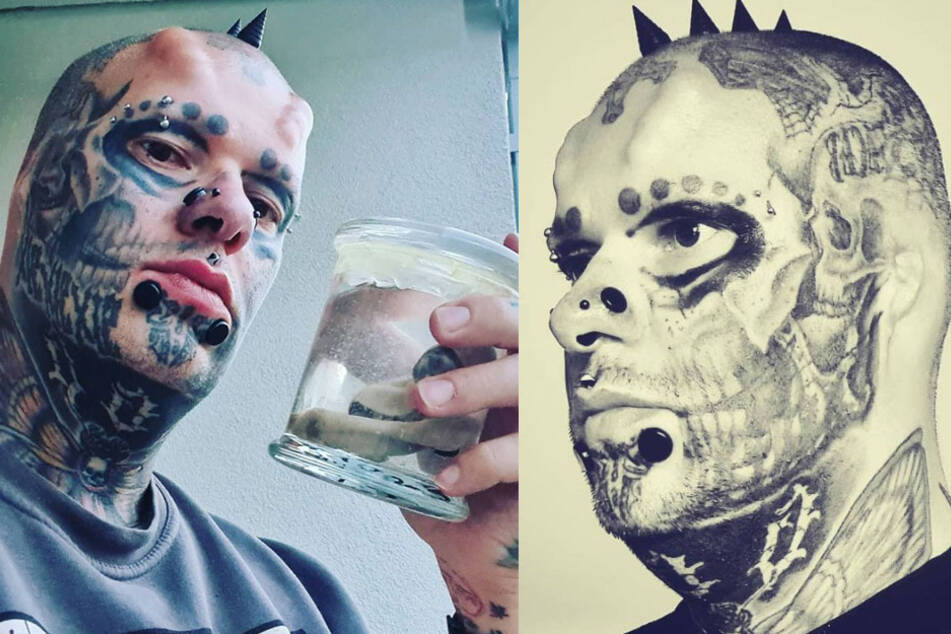 Man keeps his ears in a jar after removing them in quest to look like a skull