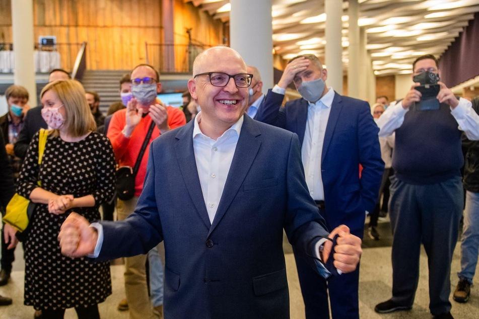 OB-Kandidat Sven Schulze ist überwältigt vom Ergebnis.