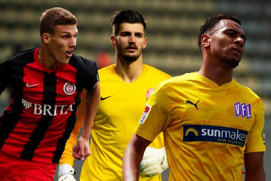 Jakov Medic (22, v.l.n.r.), Nikola Vasilj (25) und Etienne Amenyido (23) verstärken zur kommenden Saison den FC St. Pauli.