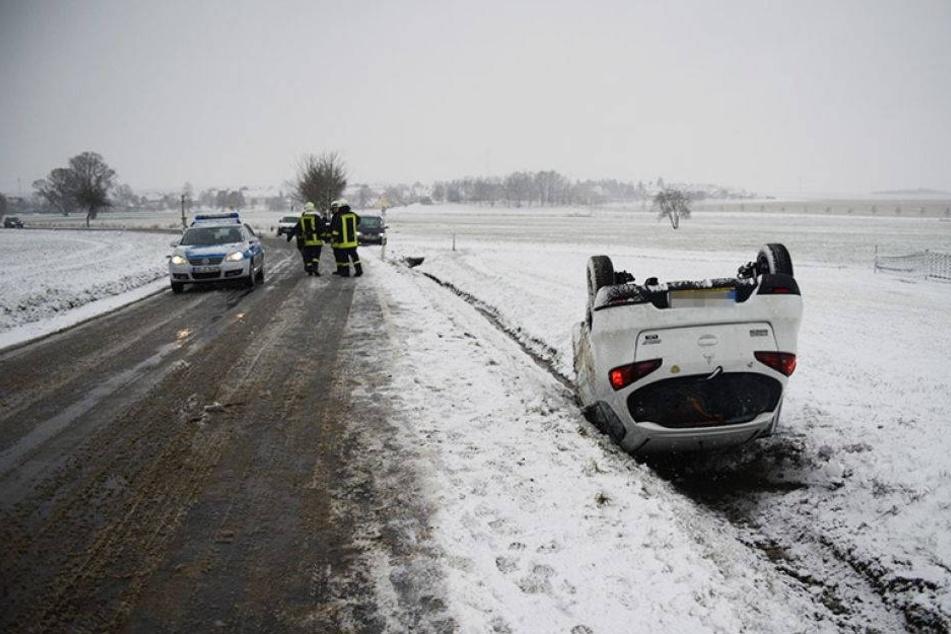 Wintereinbruch sorgt für Chaos auf Sachsens Straßen
