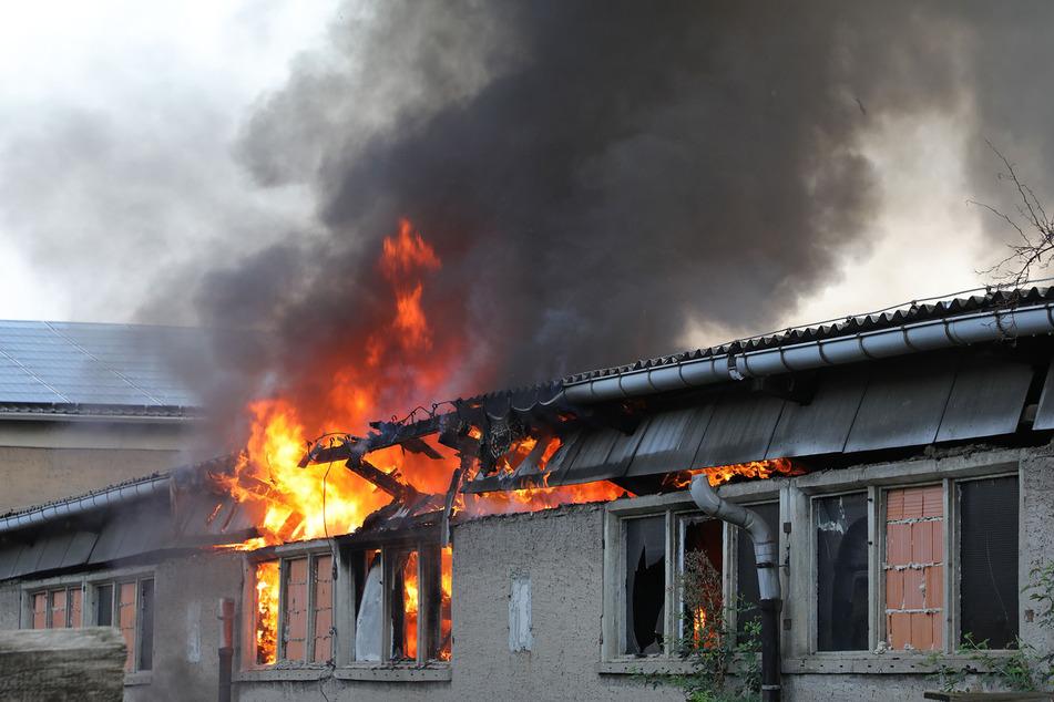 Die Lagerhalle brannte lichterloh.