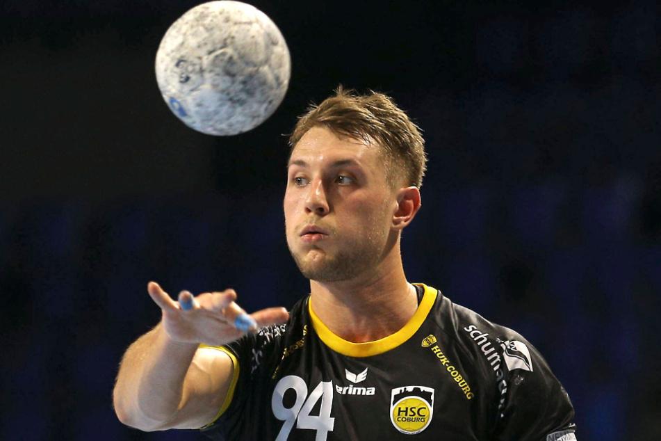 Christoph Neuhold (26) ist derzeit für Coburg in der 1. Liga aktiv, aber der kommenden Saison für den HCE eine Liga tiefer.