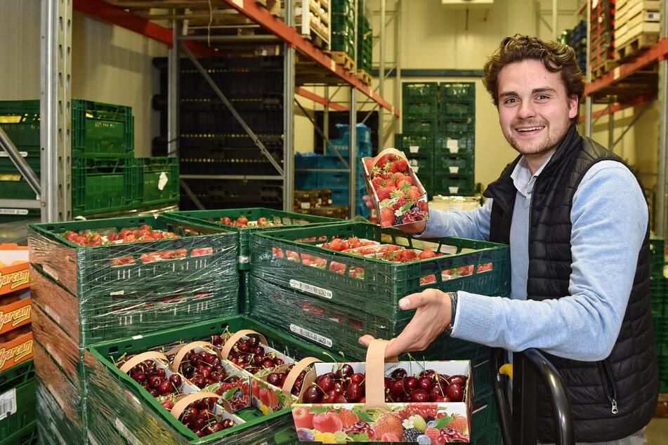 Obst und Gemüse aus der Region: Bei ihm kaufen die Küchenchefs