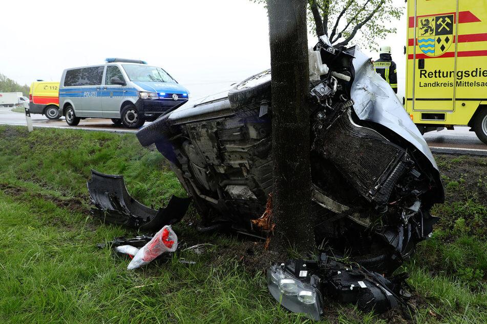 Der Audi A3 erlitt durch die Kollision einen Totalschaden.
