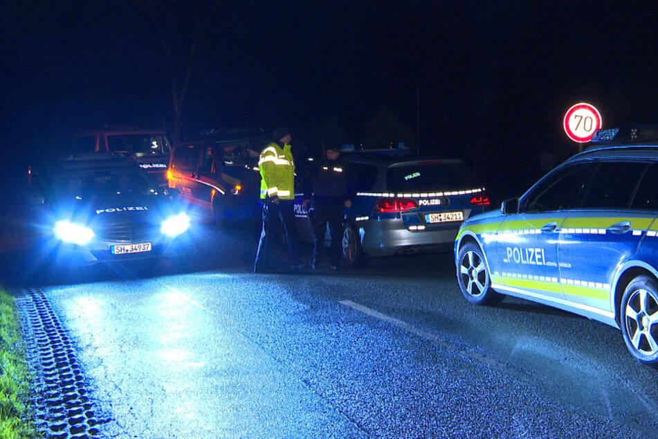 De Polizei sperrte die Gegend um das Haus weiträumig ab.