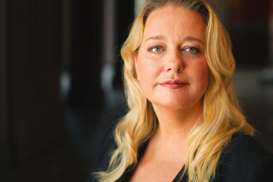 Katharina Wagner (42), künstlerische Leiterin und Geschäftsführerin der Bayreuther Festspiele, steht im Festspielhaus.