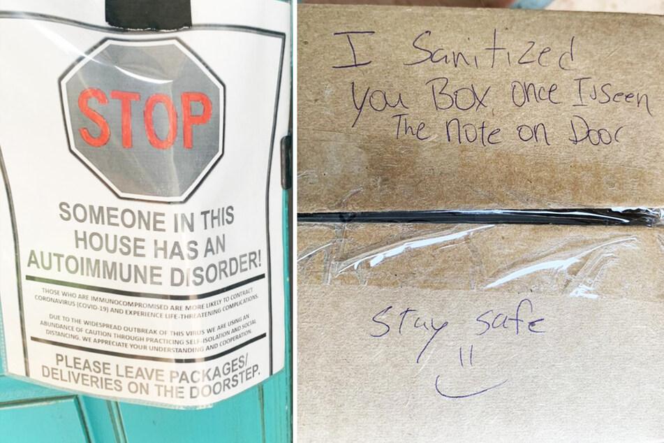 Nach diesem Hinweis reagierte der Paketbote genau richtig.
