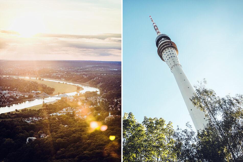 """In 148 Metern Höhe auf der Fernsehturm-Dachterrasse nahm """"Disco Dice"""" zwei Musik-Sets auf. Im Video gibt's auch eine atemberaubende Sicht auf Dresden zu sehen."""
