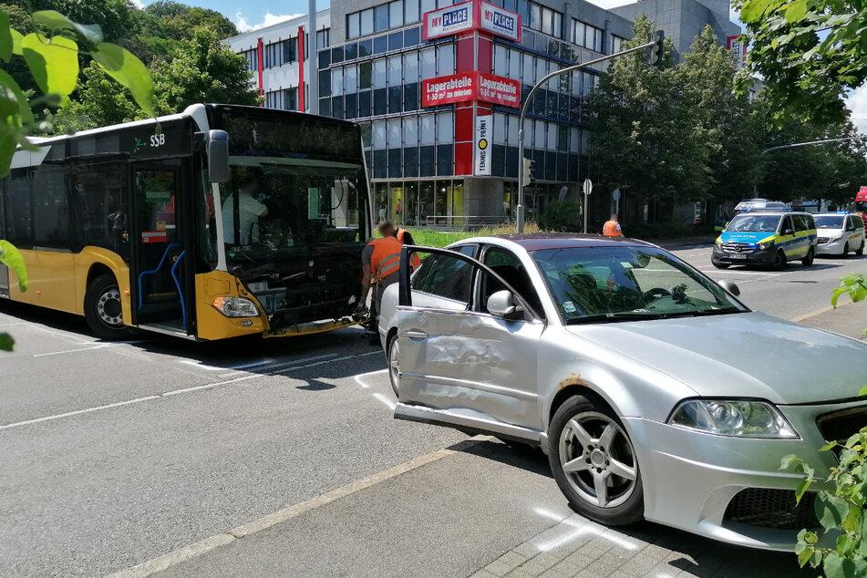 Die Unfallstelle am Montagnachmittag.
