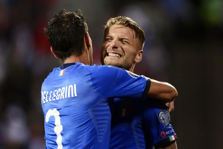 Ciro Immobile (r., 30) hat auch schon zehn Tore für die italienische Nationalmannschaft erzielt.