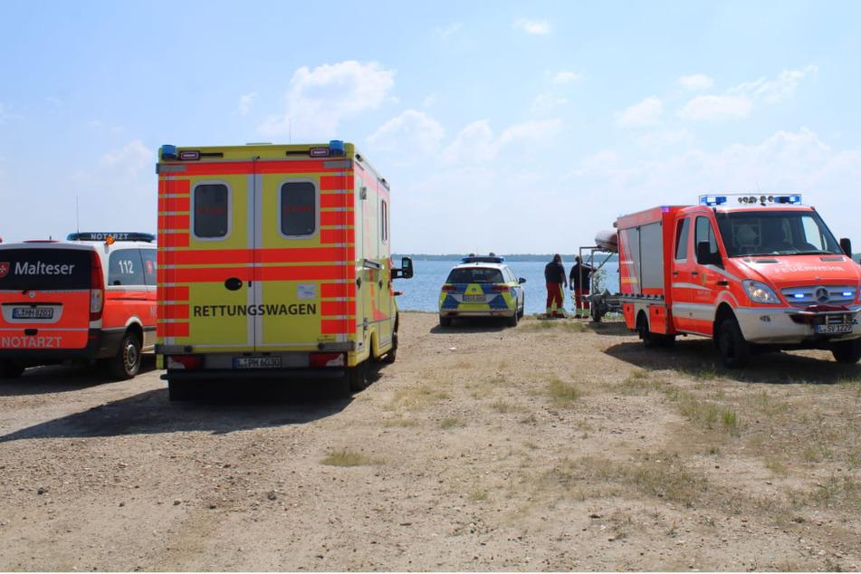 Hubschrauber und Boot im Einsatz: Suche nach Surfern im Zwenkauer See