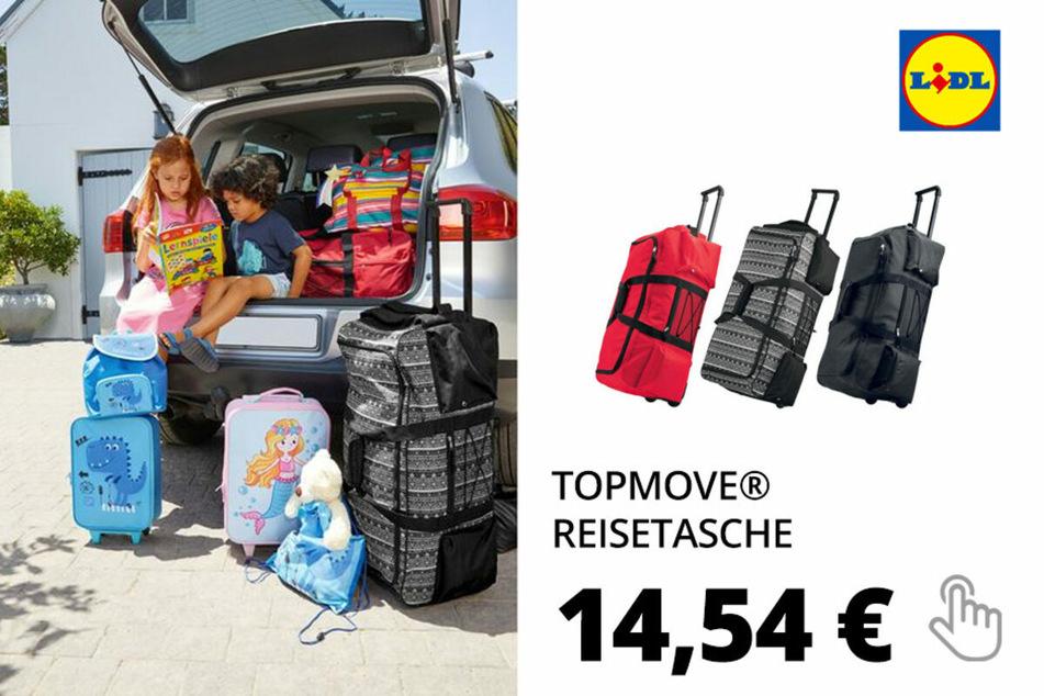 TOPMOVE® Reisetasche, 68L Volumen, maximal 20 kg Füllgewicht, mit Rollen, Trolley-System