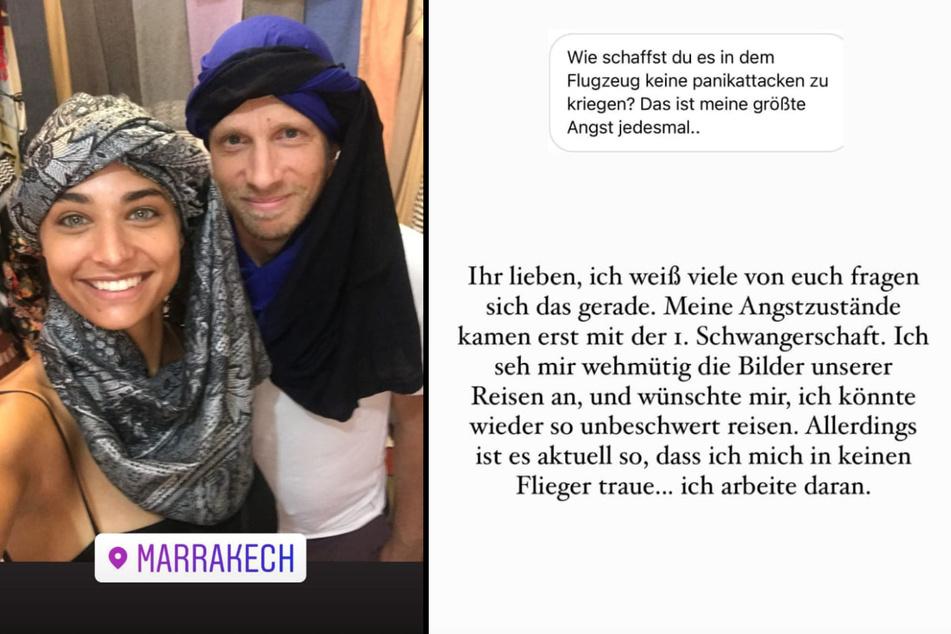 Amira Pocher (28) verrät, dass sie wegen Panikattacken inzwischen nicht mehr mit dem Flugzeug verreisen kann. (Fotomontage)