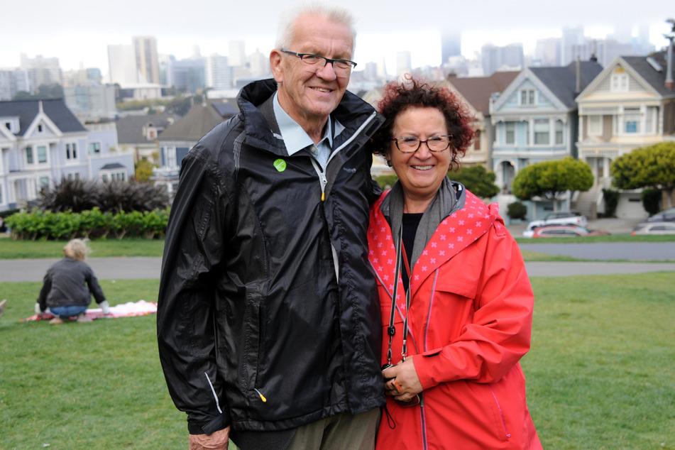 Winfried (72) und Gerlinde Kretschmann (73) 2018 in San Francisco.