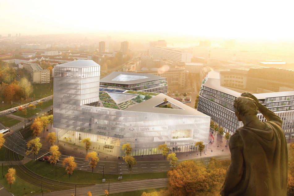 So in etwa könnte das neue Rathaus aussehen - falls es gebaut wird. Genaue Pläne folgen Ende des Jahres. (Visualisierung)
