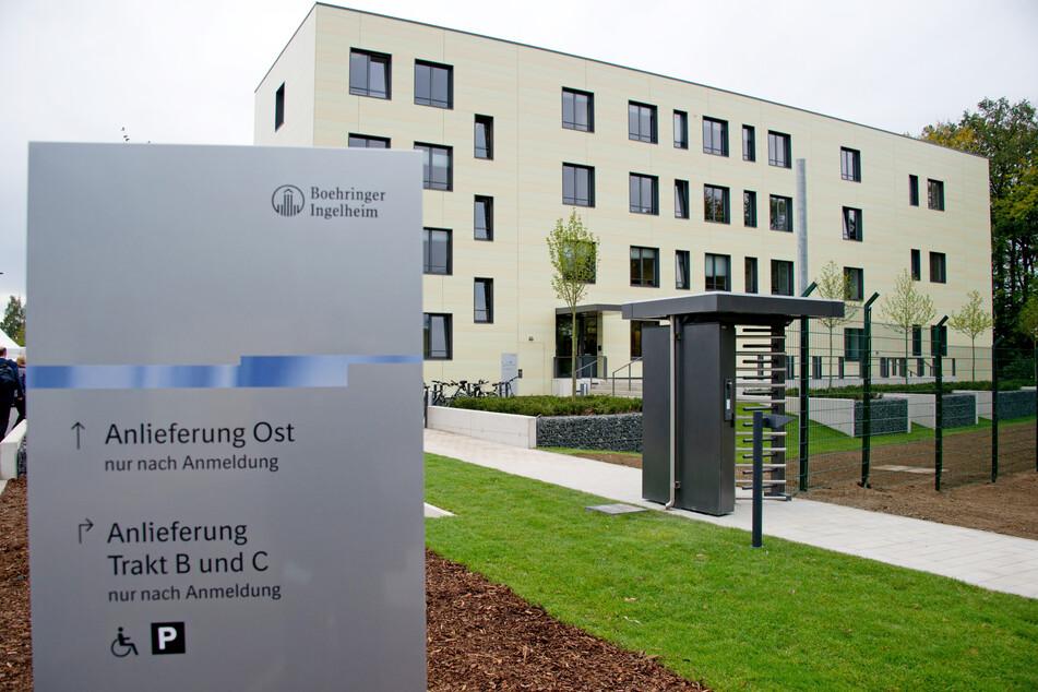 Aussenansicht eines der Gebäude des Impfstoffzentrums der Pharmafirma Boehringer Ingelheim.
