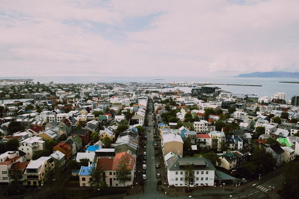 Blick auf Reykjavik.