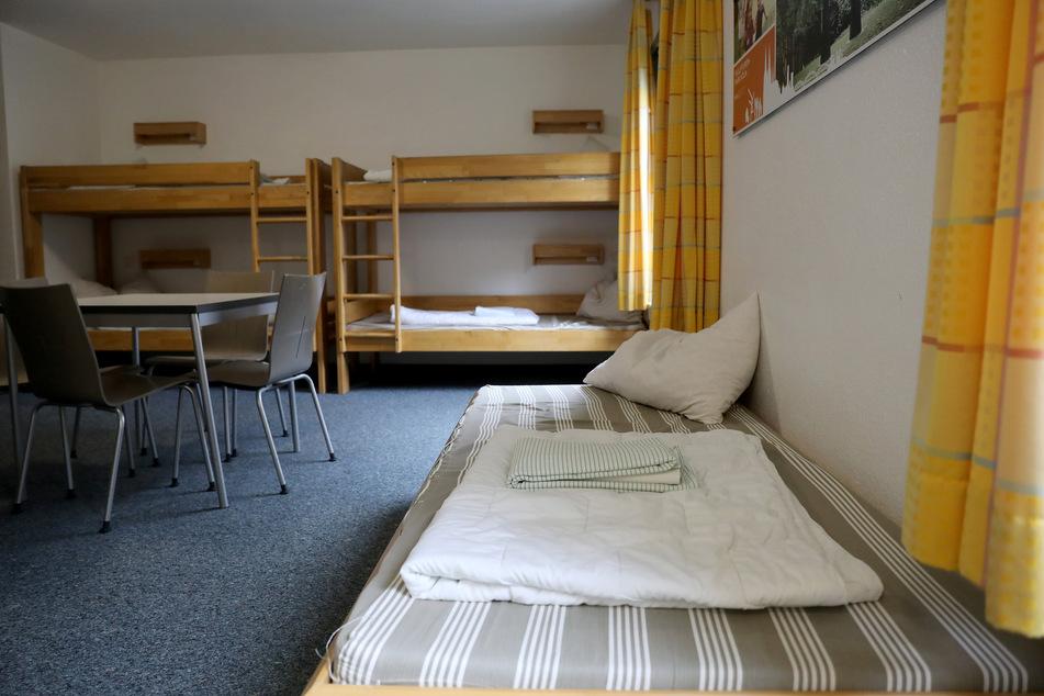 Ein leeres Zimmer in der Jugendherberge in Köln-Deutz.