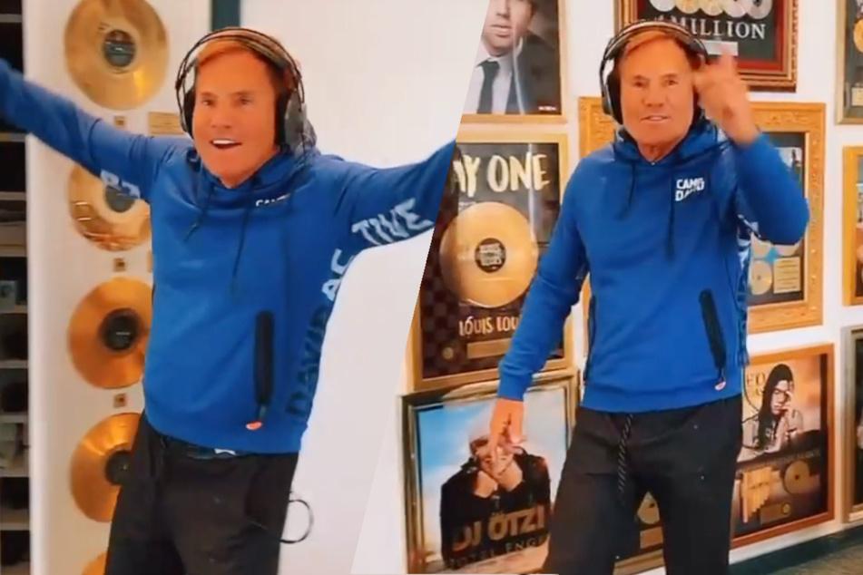 Dieter Bohlen: Trommelnder Poptitan: Dieter Bohlen feiert wilde Studio-Sause!