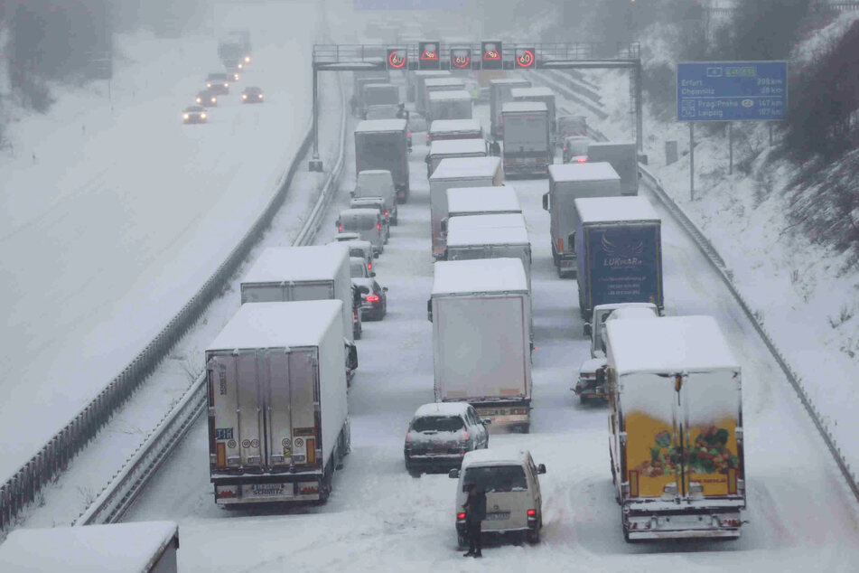 Ein Bild der A4 am heutigen Montagmorgen.