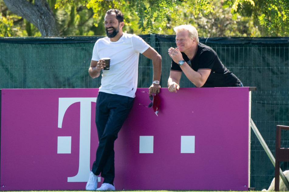 Hasan Salihamidžić (44), Sportdirektor (l.), und Oliver Kahn (51), Vorstandsmitglied vom FC Bayern.