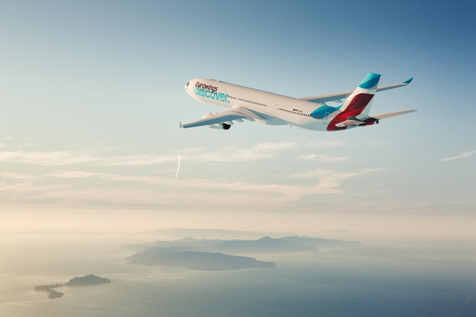 """Die neue Airline """"Eurowings Discover"""" übt am Dresdner Flughafen. (Symbolbild)"""