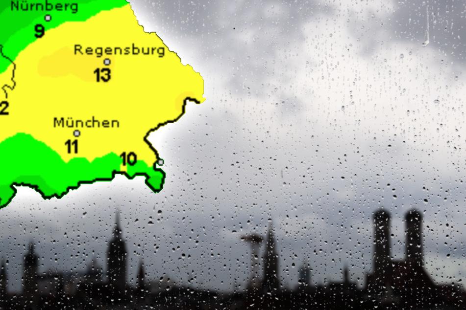 Nach Sonne satt: Gewitter und Temperatursturz in Bayern