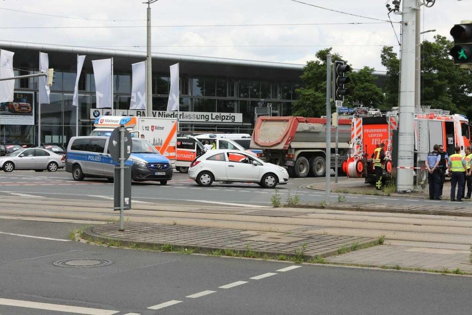 Auf der Kreuzung Richard-Lehmann-Straße/Zwickauer Straße kam es zum Zusammenstoß.