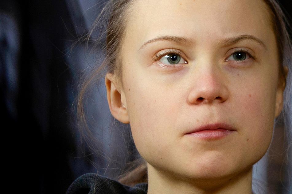 Kunstaktion abgebrochen: Gemälde-Plakat von Greta Thunberg verunstaltet