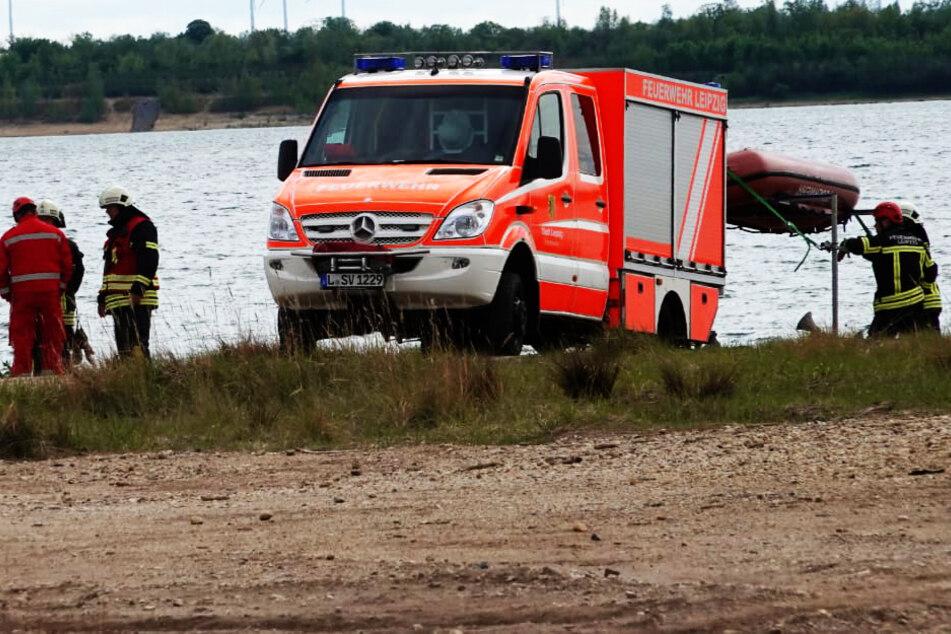 Leipzig: Rettungseinsatz am Zwenkauer See: Segelboot gekentert