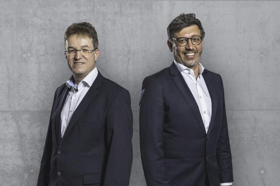 Die beiden kämpfen ums Präsidentenamt beim VfB Stuttgart: Pierre-Enric Steiger (49, l.) und Claus Vogt (51, r.).