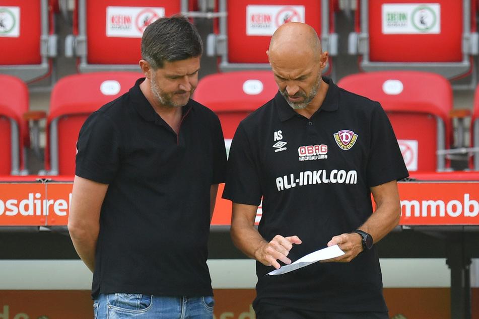 Haben Sportdirektor Ralf Becker (l.) und Trainer Alexander Schmidt die Rückkehr von Julius Kade auf dem Zettel?