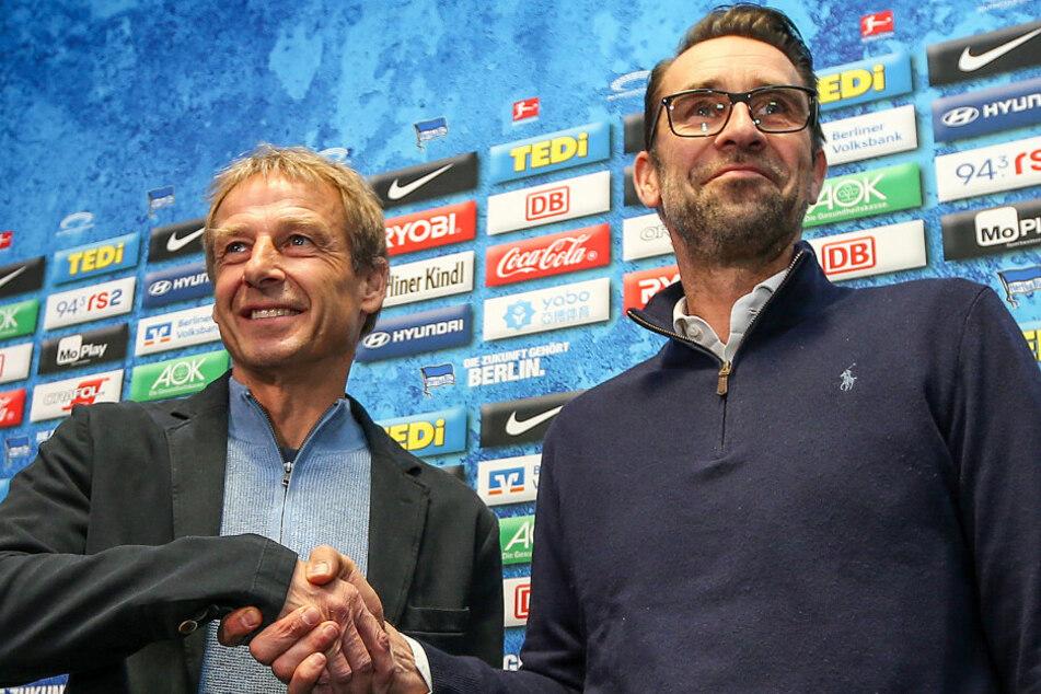 Jürgen Klinsmann (l.) hat Michael Preetz (r.) später heftig kritisiert.