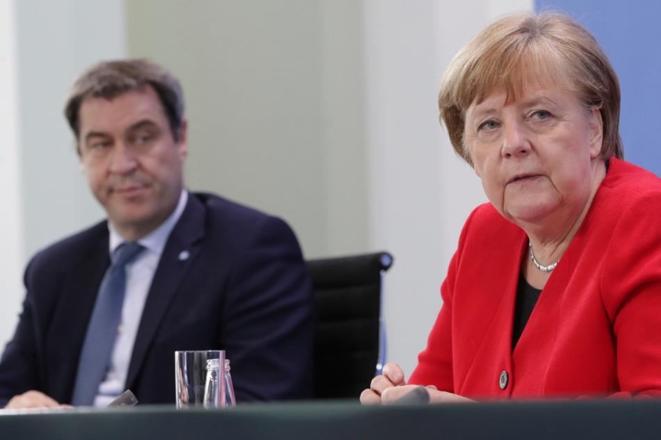 Bundeskanzlerin Angela Merkel (65, CDU) und Markus Söder (53, CSU).