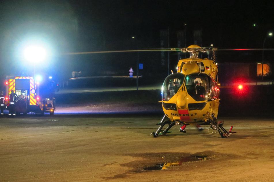 Hubschrauber landet auf Parkplatz in Aue: Was war da los?