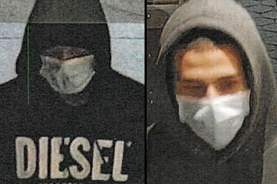 Bewaffneter Überfall: Polizei sucht nach diesen Tankstellenräubern