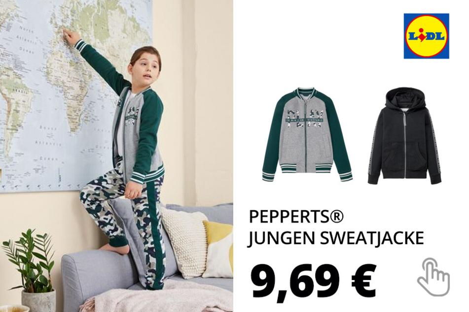 PEPPERTS® Jungen Sweatjacke, mit Baumwolle