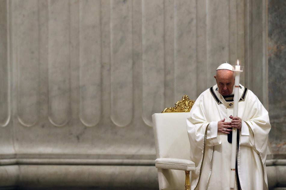 Papst Franziskus im Petersdom.