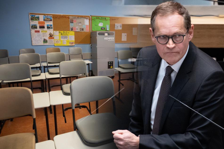 Bürgermeister Michael Müller musste durch die umstrittenen Pläne zur schrittweisen Öffnung der Berliner Schulen viel Kritik einstecken.