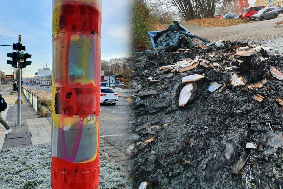 Chemnitz: Chemnitz: Blitzer-Schmiererin jetzt auf Brandstifter-Tour?