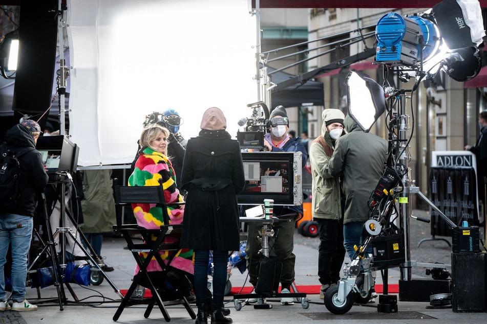 Heidi Klum (47) bereitet ein GNTM-Shooting vor.