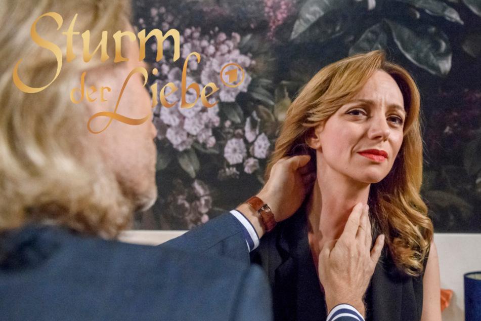 """""""Sturm der Liebe""""-Arzt Dr. Niederbühl untersucht die verletzte Ariane."""