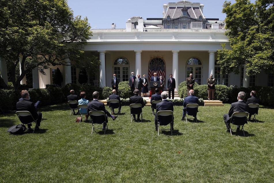 Im Rosengarten hält Präsident Trump seine Pressekonferenzen. Doch dieser soll, so möchte es Melania, bald komplett anders aussehen.